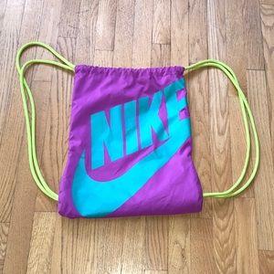 NIKE SWOOSH Drawstring Nylon Backpack